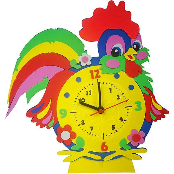 Color KIT Набор для творчества Color KIT Часы из фоамирана Петух, 24х24 см набор для творчества альт декоративные наклейки из фоамирана набор 16 фиалки
