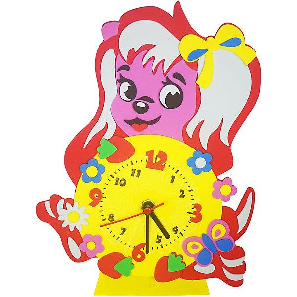 Color KIT Набор для творчества Color KIT Часы из фоамирана Собачка, 24х24 см набор для творчества альт декоративные наклейки из фоамирана набор 16 фиалки