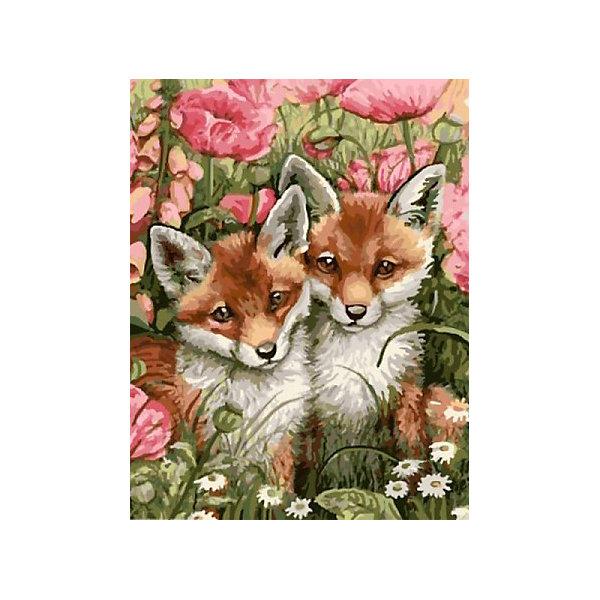 Купить Картина по номерам Color KIT Лисички-сестрички , 40х50 см, Россия, разноцветный, Унисекс