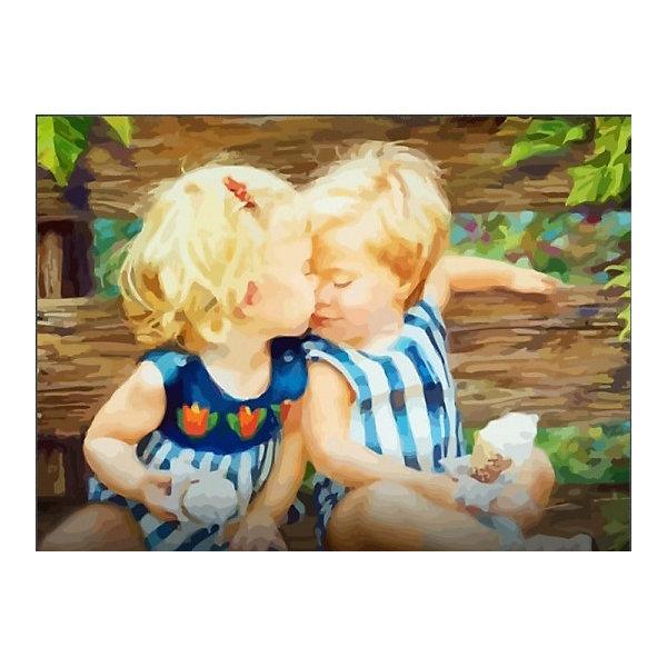 Купить Картина по номерам Color KIT Малыши с мороженым , 40х50 см, Россия, разноцветный, Унисекс