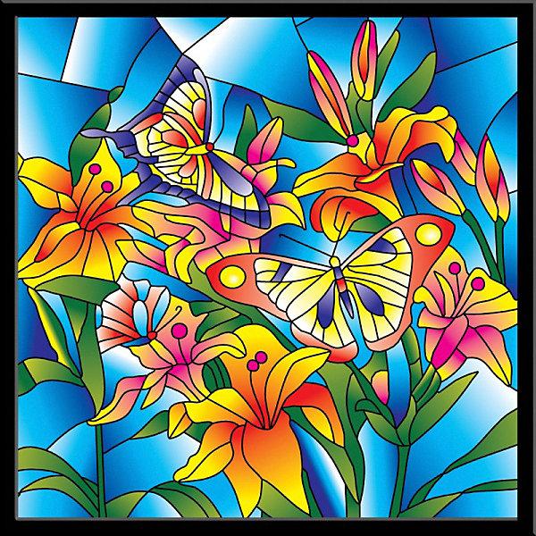 Color KIT Картина-витраж Бабочки, 43х43 см
