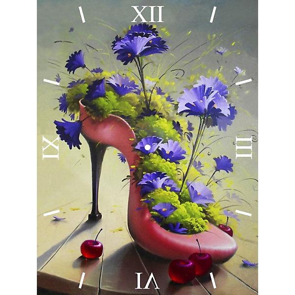 Color KIT Алмазная вышивка Color KIT Алмазные часы Цветочная туфелька, 30х40 см color kit набор для вышивания бисером color kit дыхание весны 30х40 см
