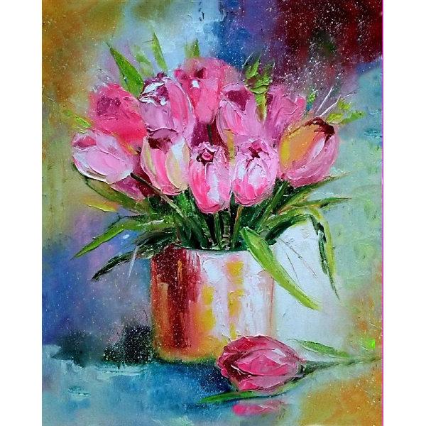 Color KIT Алмазная картина-раскраска Дыхание весны, 40х50 см