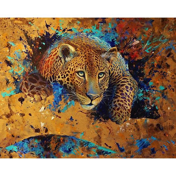 Color KIT Алмазная картина-раскраска Color KIT Леопард, 40х50 см картины постеры гобелены панно картины в квартиру картина бесконечность линий 35х35 см
