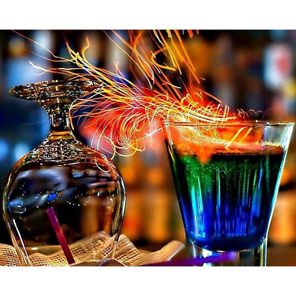 Color KIT Алмазная картина-раскраска Огненные коктейли, 40х50 см