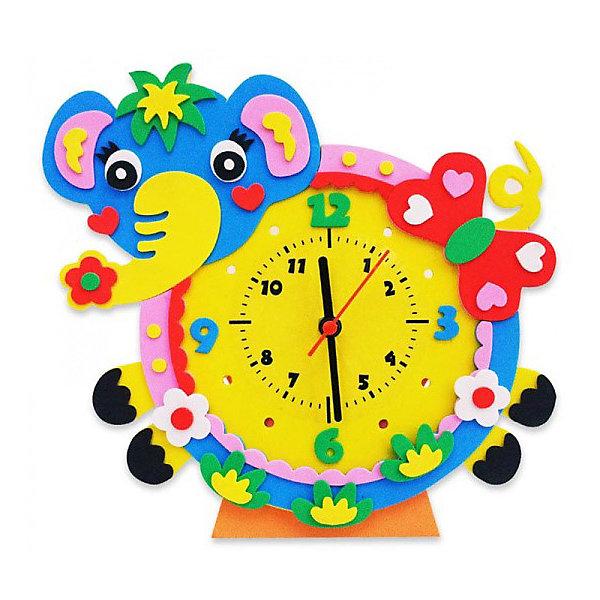 Color KIT Набор для творчества Color KIT Часы из фоамирана Слон, 24х24 см набор для творчества альт декоративные наклейки из фоамирана набор 16 фиалки