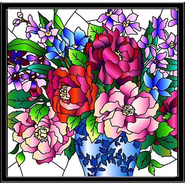 Color KIT Картина-витраж Букет пионов, 43х43 см