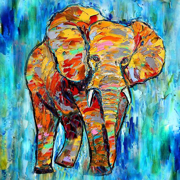 Color KIT Алмазная картина-раскраска Color KIT Яркая Африка, 40х40 см