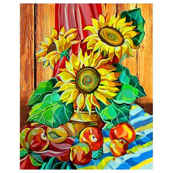 Color KIT Алмазная картина-раскраска Color KIT Натюрморт с подсолнухами, 40х50 см