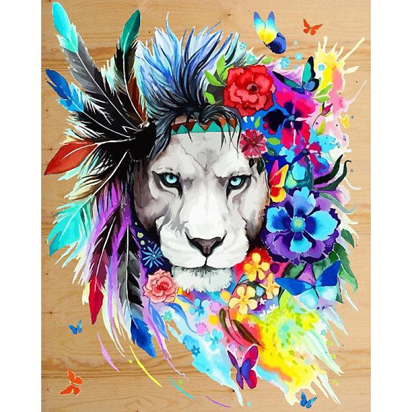 Color KIT Картина по номерам на дереве Color KIT Царь зверей, 40х50 см картина на холсте decoretto art царь зверей 60 х 30 см