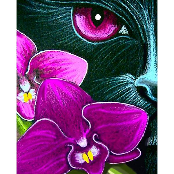 Color KIT Алмазная мозаика Color KIT Лиловый взгляд, 17х21 см schreiber алмазная мозаика по номерами ежик 20 20 см