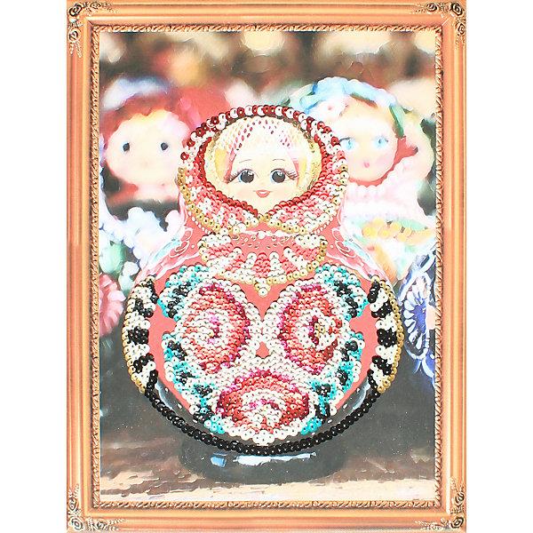 Color KIT Картина из пайеток Матрёшка, 30х40 см