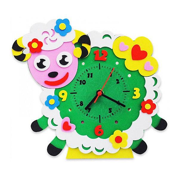Купить Набор для творчества Color KIT Часы из фоамирана Овечка, 24х24 см, Россия, разноцветный, Унисекс