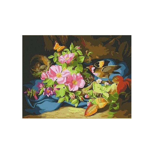 Color KIT Картина по номерам Шиповник, 30х40 см