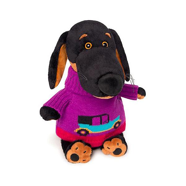 Budi Basa Мягкая игрушка Budi Basa Собака Ваксон в свитере с машинкой, 25 см