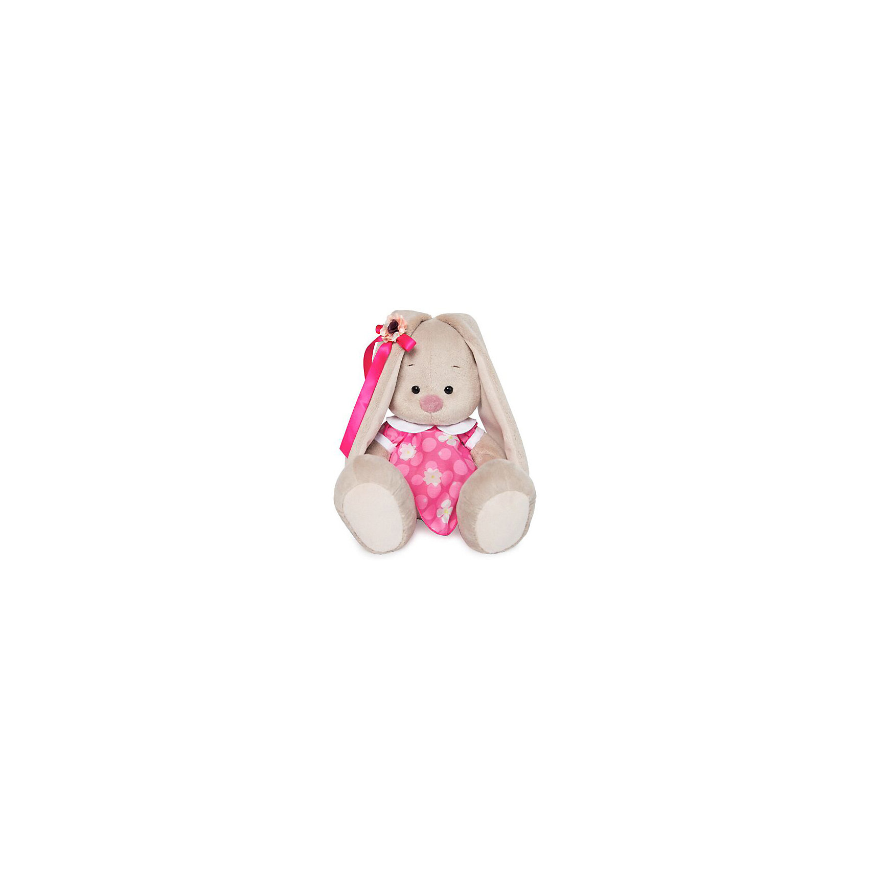 Мягкая игрушка Budi Basa Зайка Ми в розовом платье с белым воротничком, 18 см по цене 746