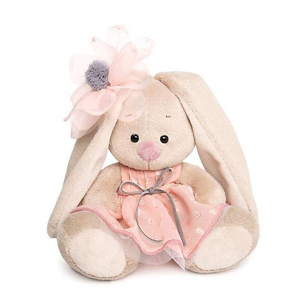 Budi Basa Мягкая игрушка Зайка Ми в персиковом платье, 15 см