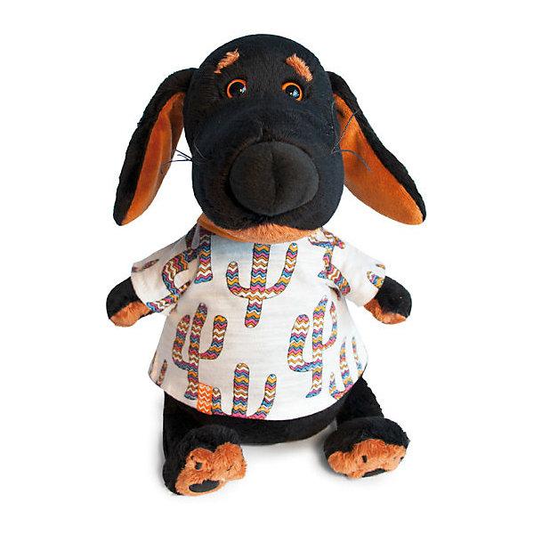 Budi Basa Мягкая игрушка Собака Ваксон в футболке кактусы, 25 см