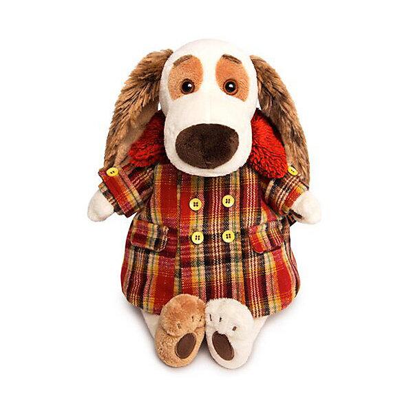 Budi Basa Мягкая игрушка Собака Бартоломей в пальто клетку, 27 см