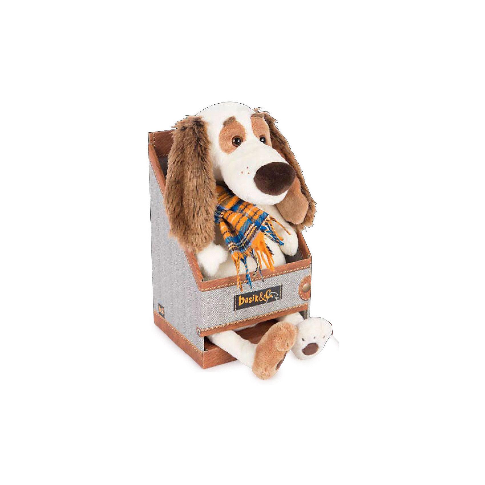 Мягкая игрушка Budi Basa Собака Бартоломей в пальто в клетку, 27 см по цене 1 062