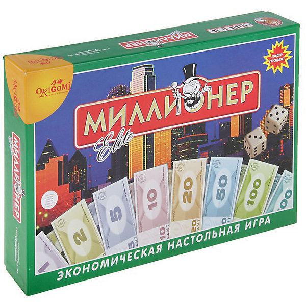 Настольная игра Миллионер-элит в твердом коробе.04336 Origami