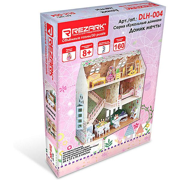 Фото - Rezark 3D пазл Rezark Кукольные домики Домик мечты, 160 элементов кукольные домики и мебель cartonhouse игровой домик из картона замок русалки