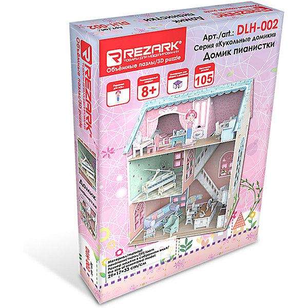 Rezark 3D пазл Rezark Кукольные домики Домик пианистки, 105 элементов