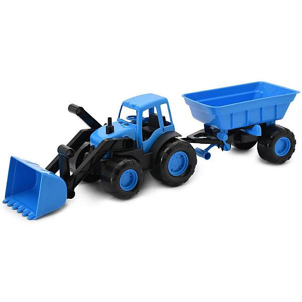 Трактор с ковшом и прицепом Zebratoys