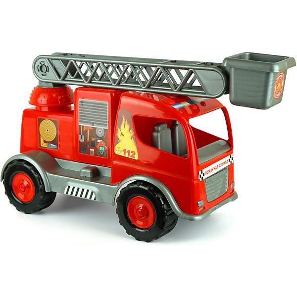 Автомобиль Zebratoys Пожарная машина, 63 смМашинки<br>Характеристики товара:<br><br>• возраст: от 3 лет<br>• материал: пластик<br>• размер машинки: 63х23х29<br>• вес в упаковке: 1,30 кг.<br>• размер упаковки: 67х23х36<br>• страна бренда: Россия<br><br>Пожарная машинка от бренда Zebratoys (Зебратойс). Машинка сделана как настоящая, выдвижная лестница с люлькой вращается, отсеки для инвентаря открываются и закрываются. Окрашена в яркий красный цвет с серыми элементами. Большие устойчивые чёрные колёса с хорошей проходимостью. Сделана из качественного и безопасного пластика.