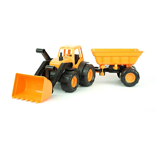 Zebratoys Трактор с ковшом и прицепом Zebratoys Active 55 см, цена