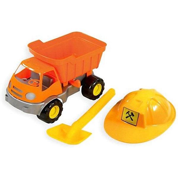 Zebratoys Игровой набор для песочницы Zebratoys Самосвал c каской и лопатой игрушки в песочницу green toys игровой набор для песочницы