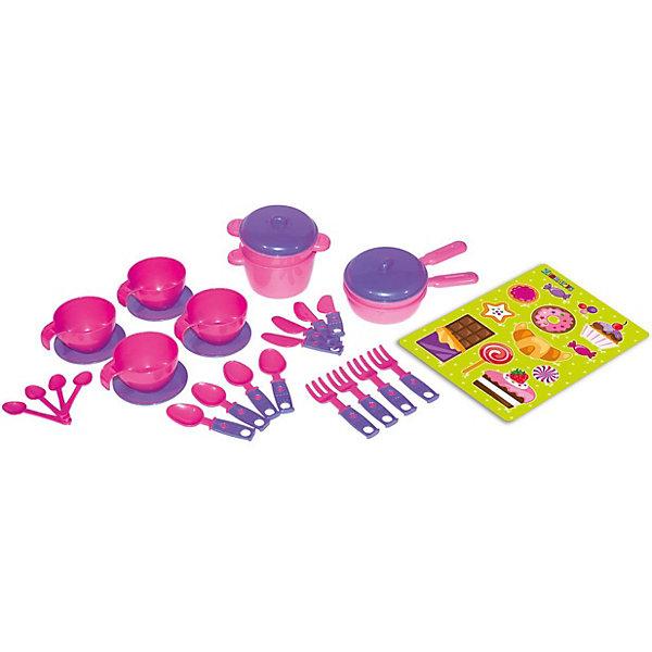 Zebratoys Набор игрушечной посудки Zebratoys Чайный, 30 предметов ложечки и вилочки chicco