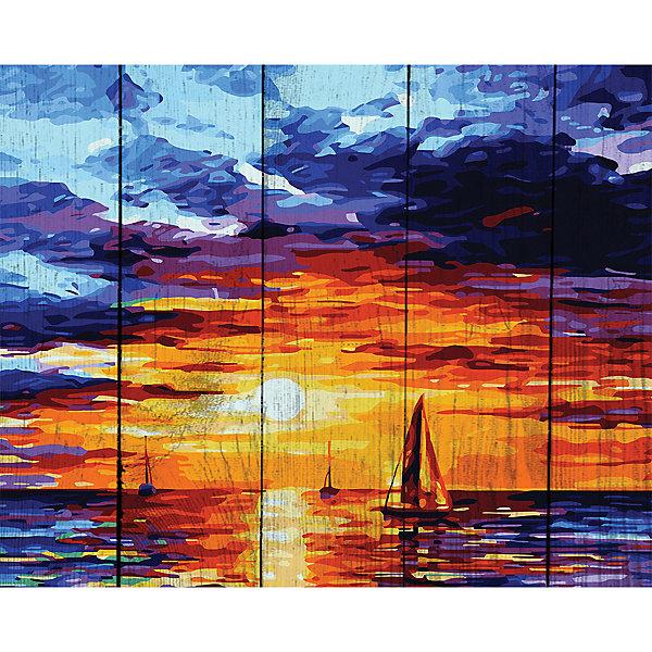 Фрея Картина по номерам на дереве Фрея Утро на море, 50х40 см фрея картина по номерам на дереве фрея итальянская набережная 50х40 см