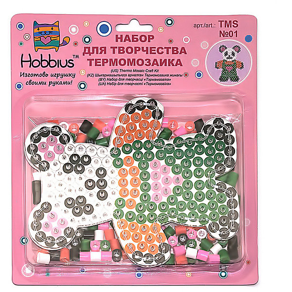 Hobbius Термомозаика № 1 Медвежонок, 240 бусин