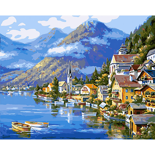 Фрея Картина по номерам на холсте Фрея Горная деревня, 50х40 см