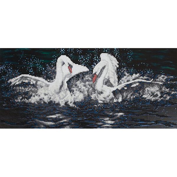 Фрея Алмазная мозаика Фрея Белые лебеди, 53х24,5 см фрея картина по номерам на дереве фрея итальянская набережная 50х40 см