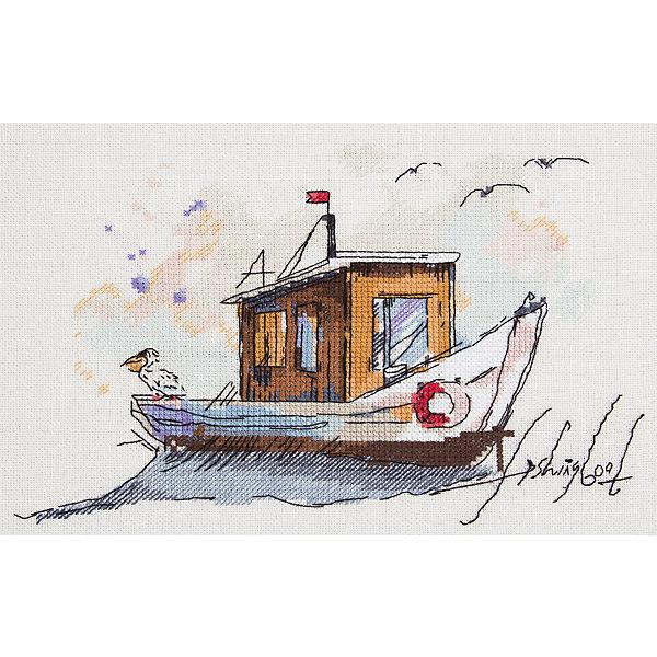 Panna Набор для вышивания Panna Бэкстич Рыбацкая лодка, 25х18 см panna набор для вышивания panna бэкстич венок изобилия 32х32 см