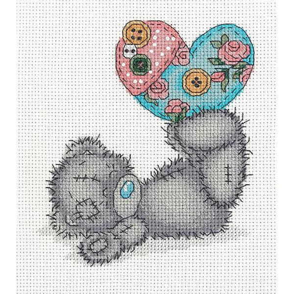 Klart Набор для вышивания мулине Klart Tatty Teddy с рукодельным сердцем, 14,5х16 см klart набор для вышивания мулине klart tatty teddy с рукодельным сердцем 14 5х16 см