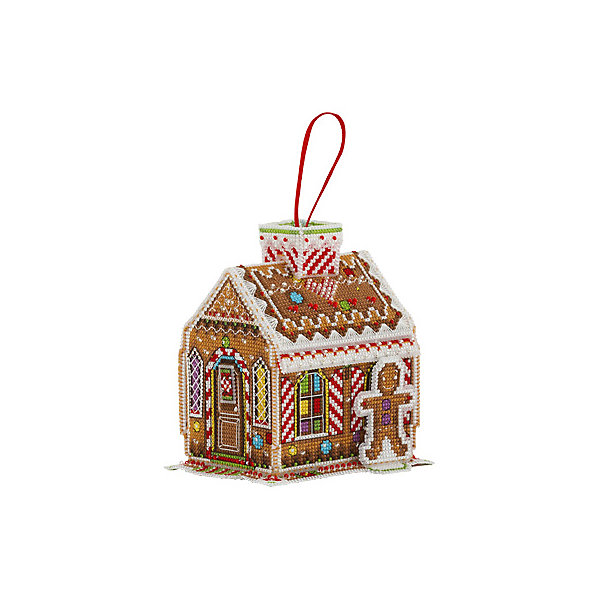 Panna Набор для вышивания Panna Бэкстич Пряничный домик, 10х12х12 см