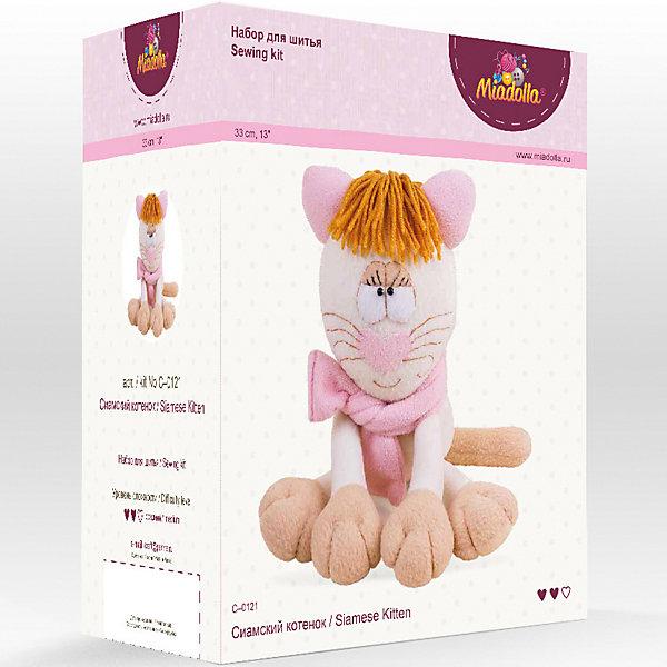 Miadolla Набор для шитья игрушек Зверьки и птички Сиамский котёнок