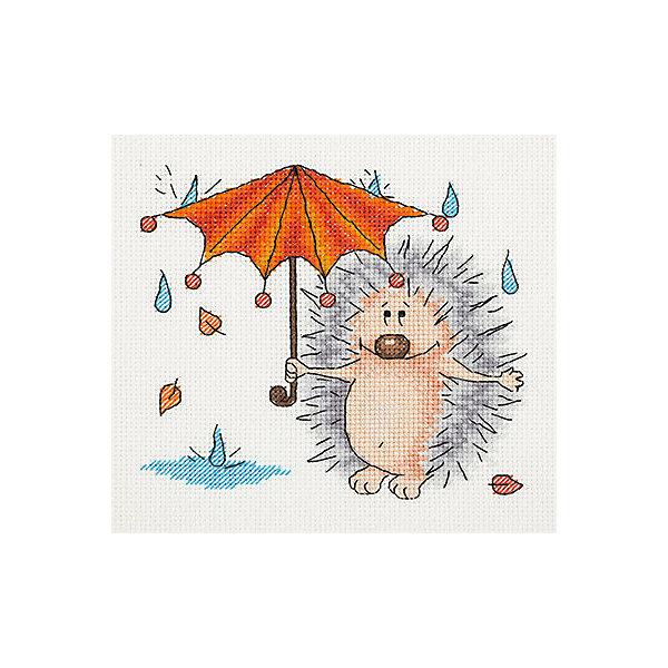 Klart Набор для вышивания мулине Klart Осенний ёжик, 17х16 см klart набор для вышивания мулине klart tatty teddy с рукодельным сердцем 14 5х16 см
