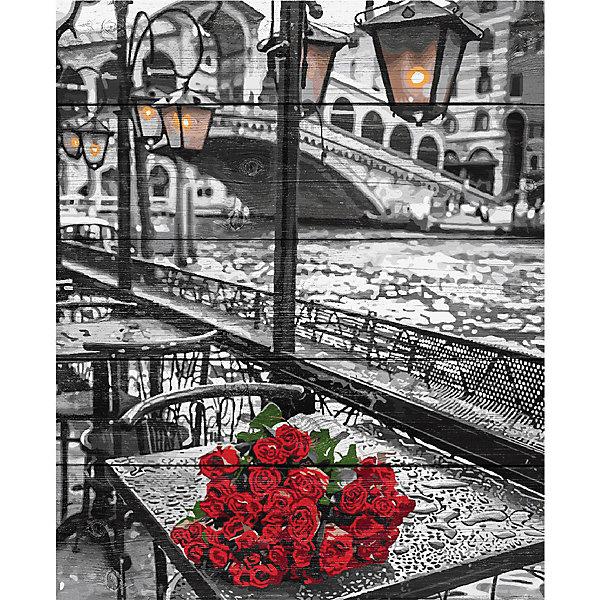 Фрея Картина по номерам на дереве Венеция - город любви, 50х40 см
