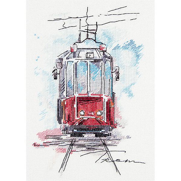 Panna Набор для вышивания Panna Бэкстич Городской трамвай, 17х25 см набор для вышивания крестом мп студия славянский оберег кубышка 21 х 16 см