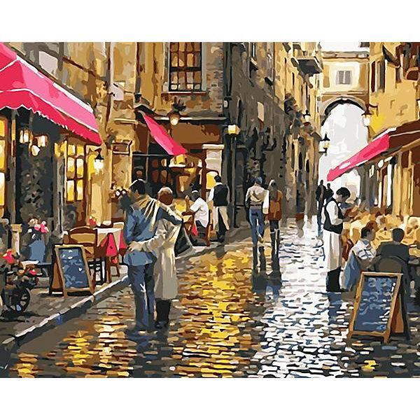 Фрея Картина по номерам на холсте Фрея Городская романтика, 50х40 см