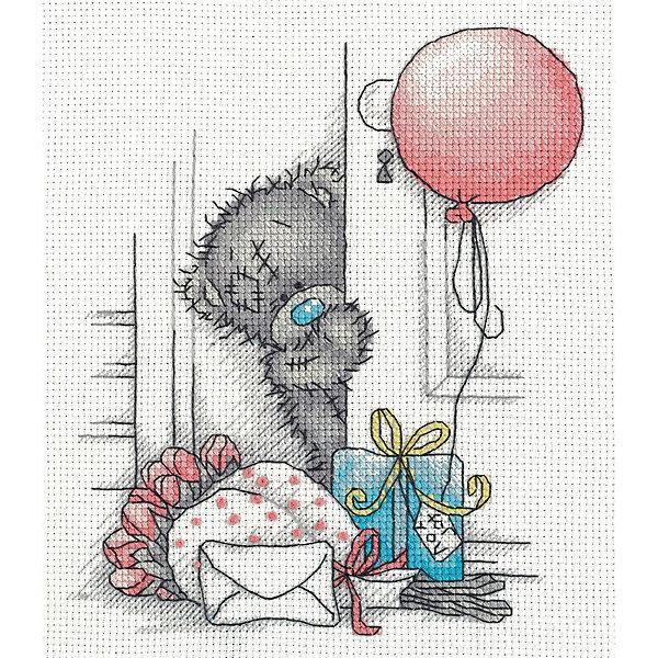 Klart Набор для вышивания мулине Klart Tatty Teddy с подарками, 17х20 см klart набор для вышивания мулине klart tatty teddy с рукодельным сердцем 14 5х16 см