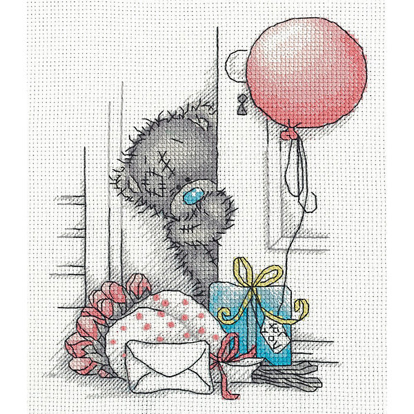 "Klart Набор для вышивания мулине Klart ""Tatty Teddy с подарками"", 17х20 см"