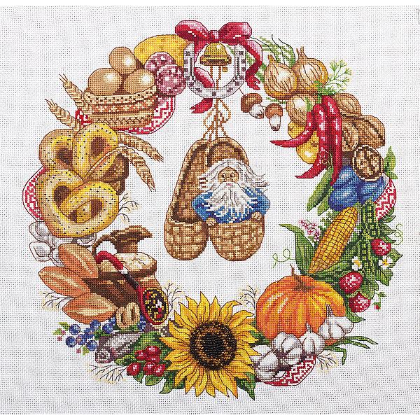 Panna Набор для вышивания Panna Бэкстич Венок изобилия, 32х32 см набор для вышивания крестом мп студия славянский оберег кубышка 21 х 16 см