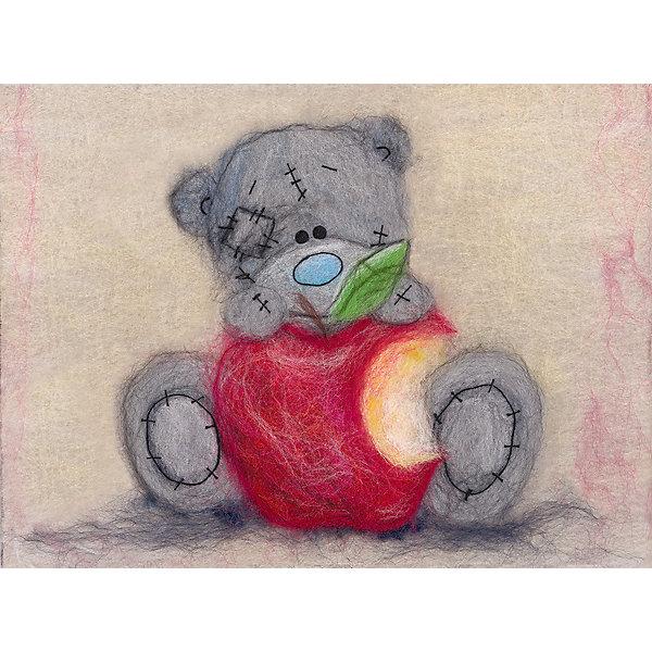 Купить Набор для валяния Woolla Шерстяная акварель Татти Тедди с яблочком, 21х15 см, Россия, Унисекс