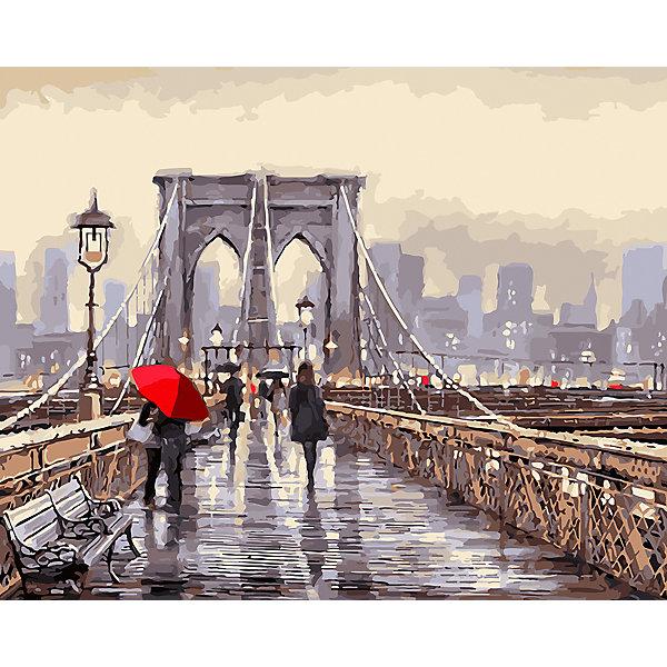 Фрея Картина по номерам на холсте Фрея Бруклинский мост, 50х40 см