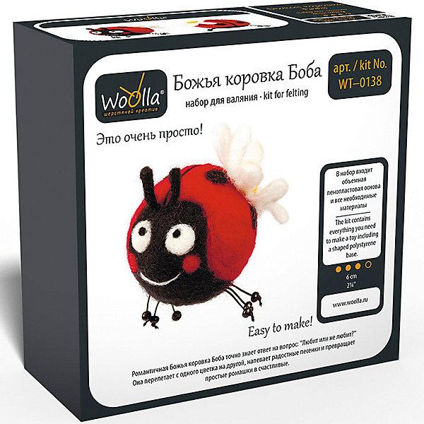 Woolla Набор для валяния Woolla Игрушки Божья коровка Боба игрушки из дерева лабиринт божья коровка